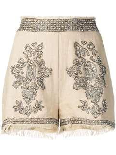 歐洲品牌 民族風短褲 有套裝