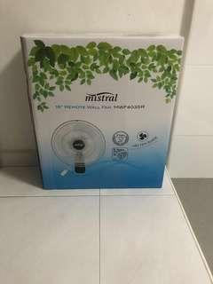 """Mistral 16"""" remote wall fan"""