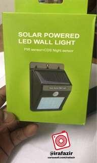 SOLAR LED WALL LIGHT ( 20 LED - PIR Motion Sensor )