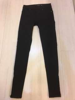 Black stretchable denim size euro 34