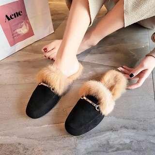 🚚 平底兔毛毛鞋