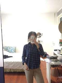 grid shirt  darkblue