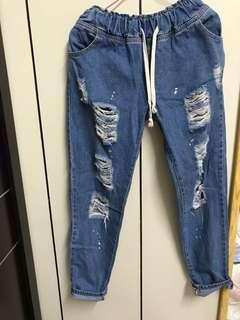 男友褲/破褲/牛仔褲
