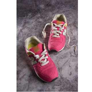 🚚 【TKRY二手球鞋】new balance 574正品桃紅色球鞋