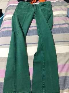 Jeans panjang hijau FACTOR size 30