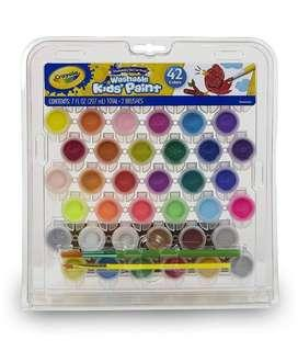 🚚 Brand new Crayola Washable Kids Paint Set 42colors pack