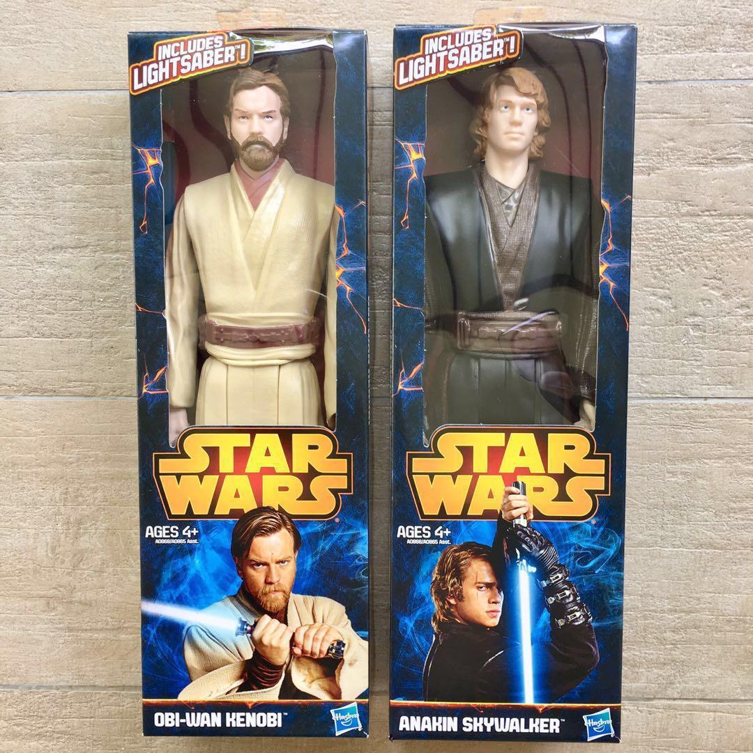 2 X Star Wars Obi Wan Kenobi Anakin Skywalker 12 Series Action Figures Revenge Of The Sith Hasbro Mace Windu Rots Archive 6 Black Sith Trooper Rise Of Skywalker Toys