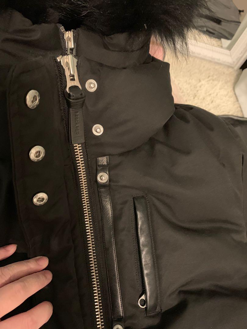 ( Large ) Mackage Marla in Black on Black with Silver Hardware