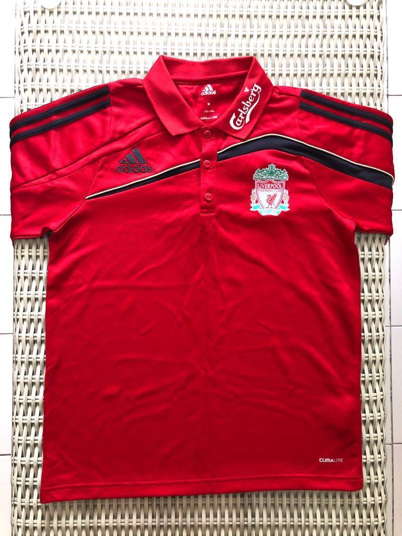 Adidas Original Liverpool long sleeve home jersey jersi red