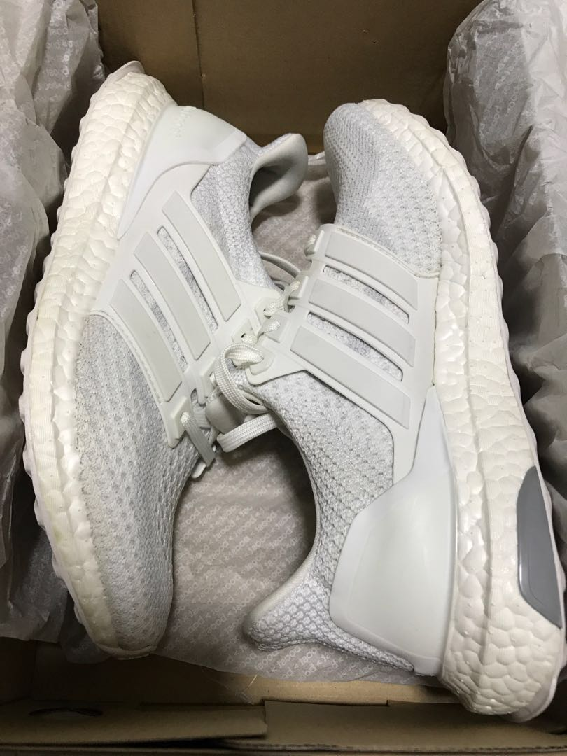 480d9a5625f79 ADIDAS Ultra Boost 2.0 J Triple White Sneakers
