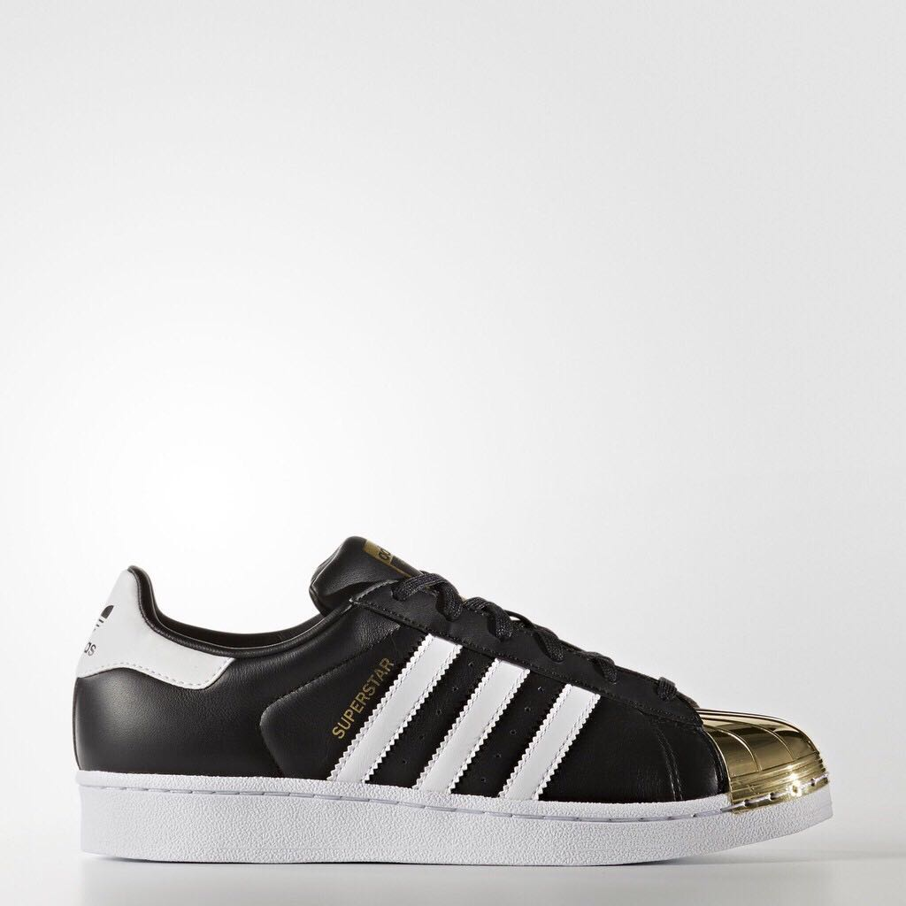 premium selection 1ff22 62e74 Adidas Unisex Originals Superstar 80s Metal Toe Black/Gold
