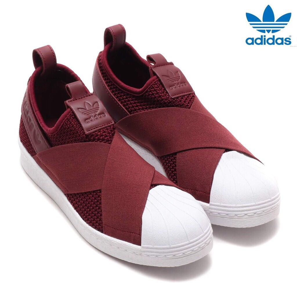 best sneakers ce905 4e2de Adidas Women s Originals Superstar Slip-On Red Night Shoes, Women s ...