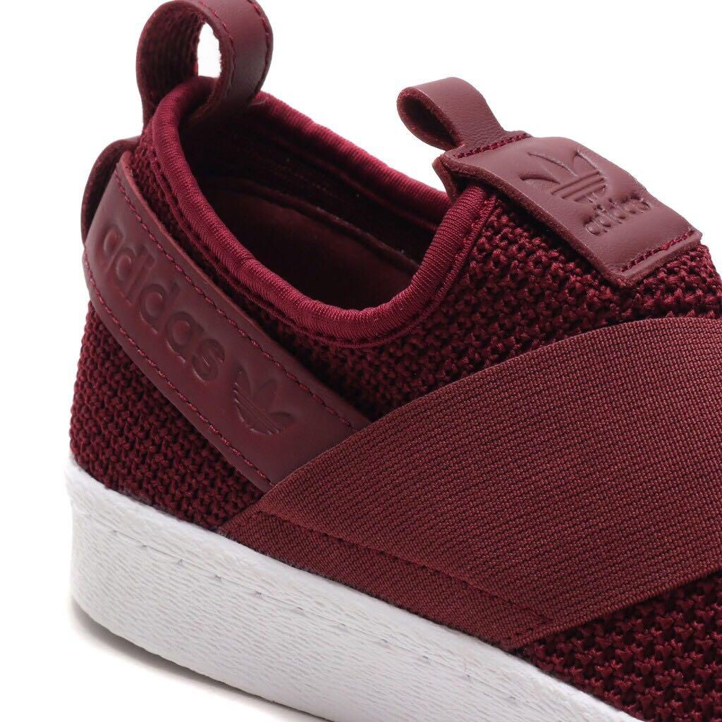 more photos 5d0ac 67afb Adidas Women's Originals Superstar Slip-On Red Night Shoes ...