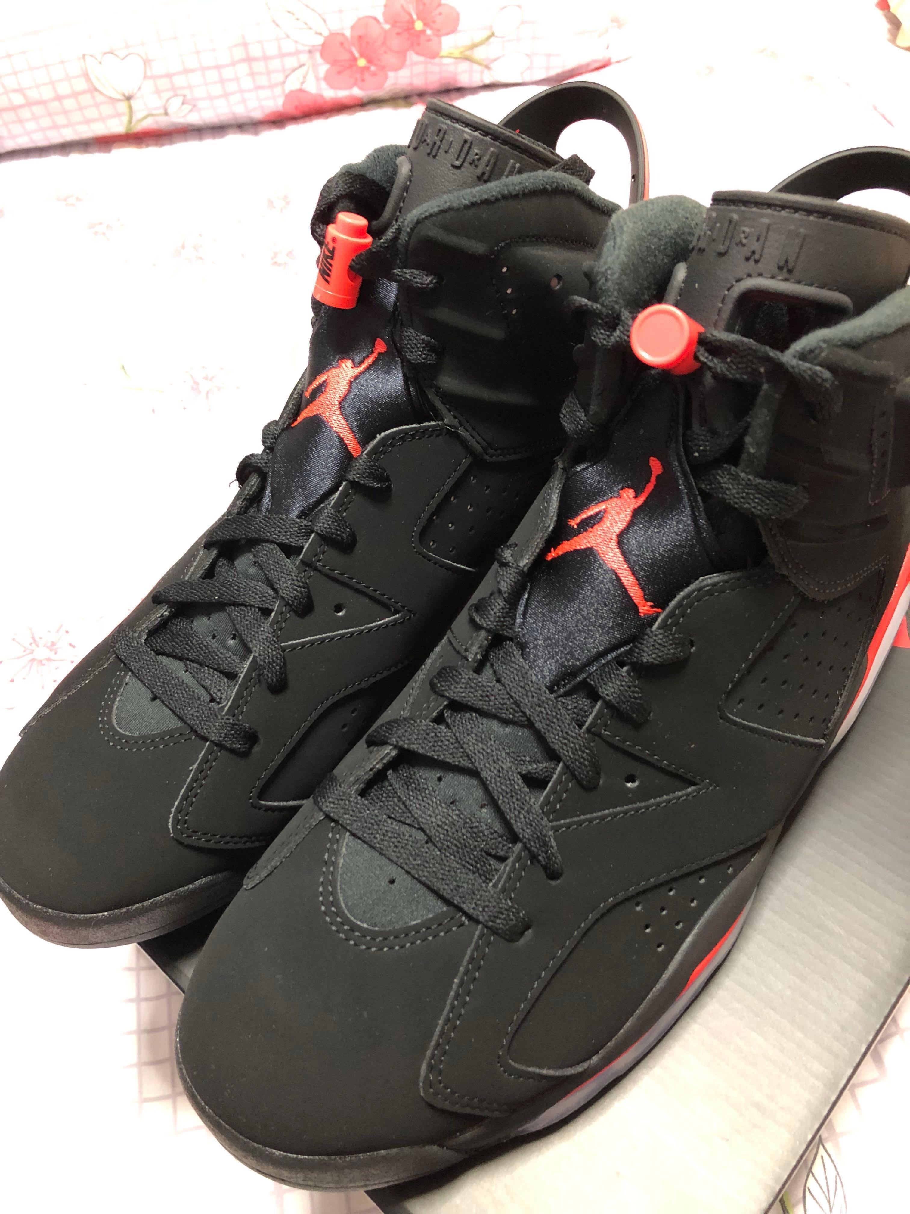 huge selection of 5e0b8 4a449 Air Jordan 6 Retro Black Infrared (2019) US 9.5, Men s Fashion ...