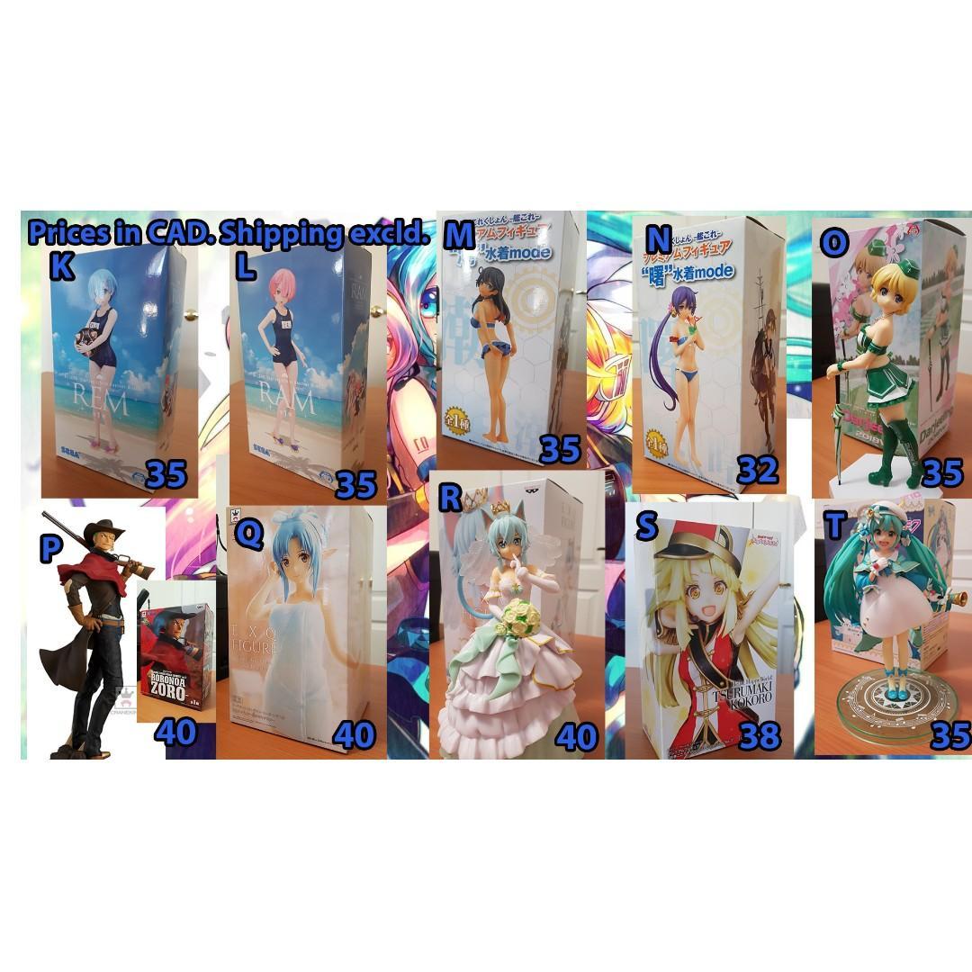 Anime Figures & Plush (Sword Art Online, Boku no Hero, Miku...)