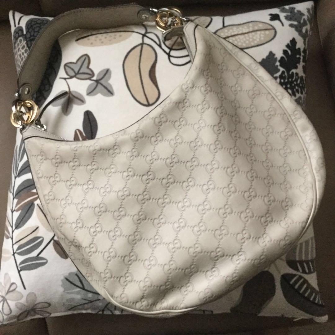 420d47e496b8 Auth GUCCI GG Twins Guccissima Full Leather Medium Shoulder Hobo Bag ...