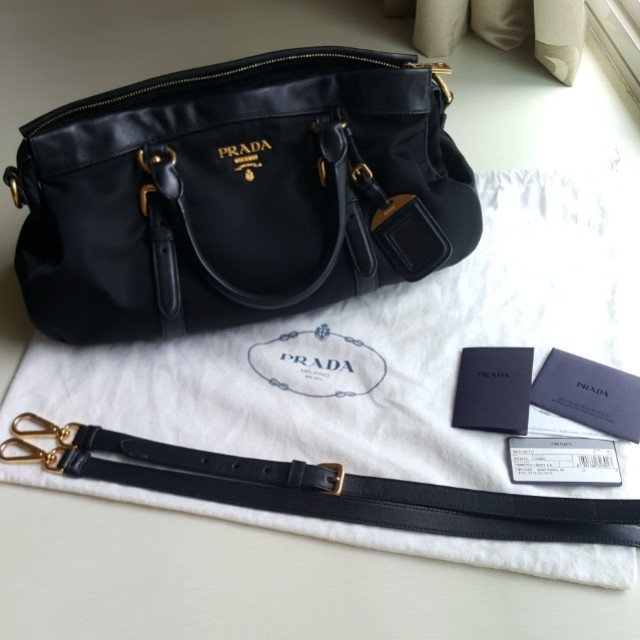 c26b46e1bb758c Authentic Prada Tessuto Nero Bag with sling, Luxury, Bags & Wallets ...