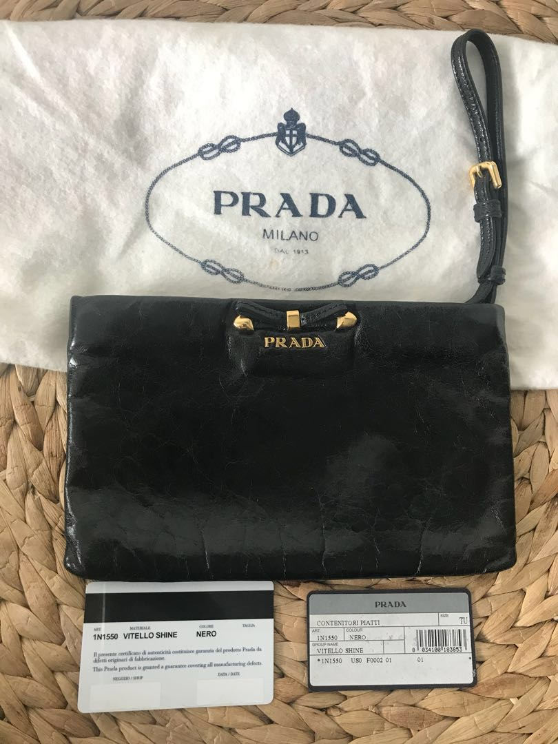 half off 86399 577af Authentic PRADA wristlet/pochette, Luxury, Bags & Wallets ...