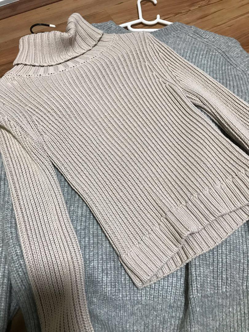 Bardot Nude Turtleneck Sweater