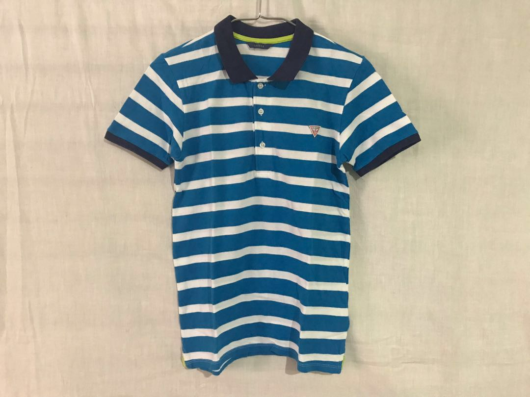 075c89de831c BLUE GUESS KIDS POLO, Men's Fashion, Clothes, Tops on Carousell