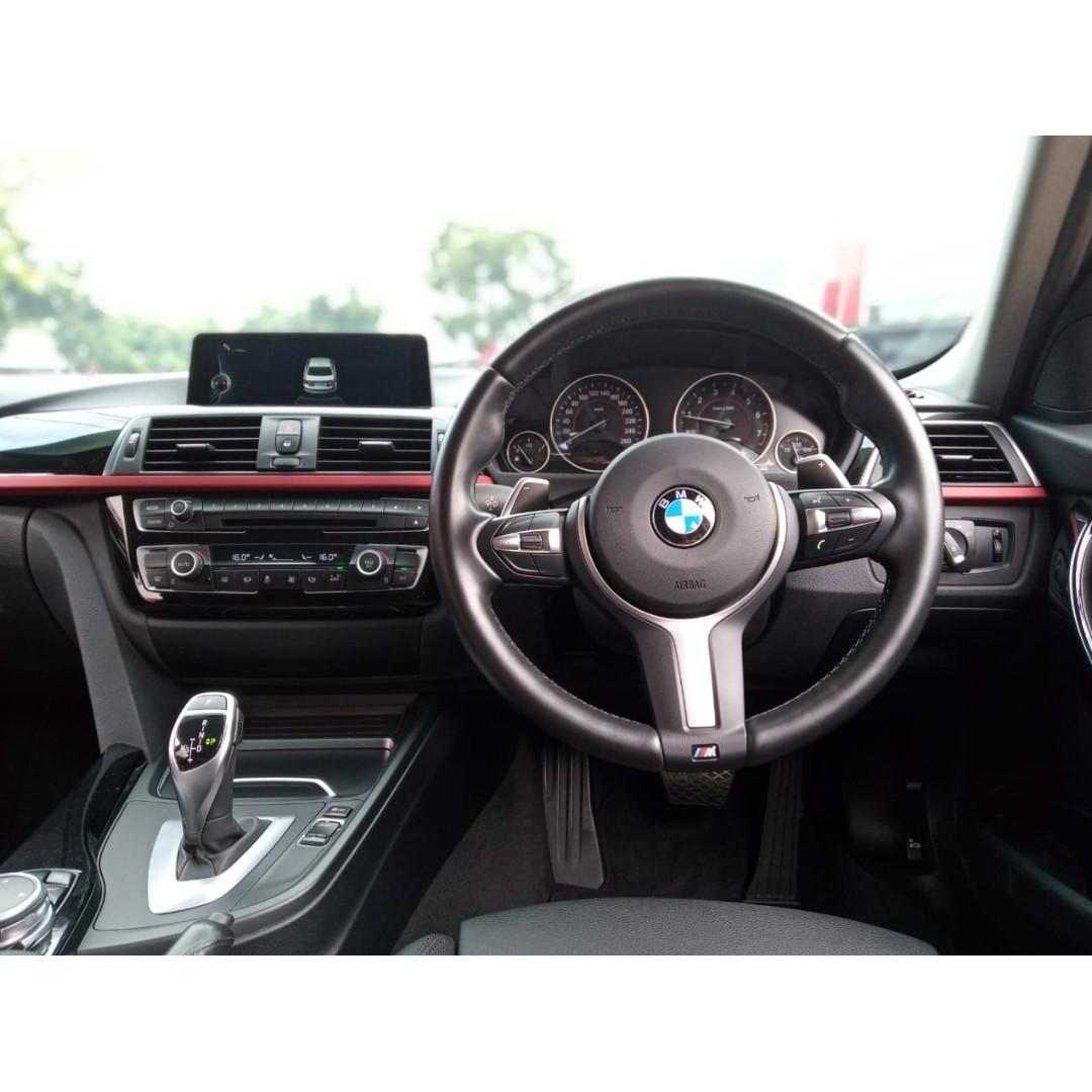 BMW 320i Sport  AT 2016 Black, Km 30 rb, No pol Genap TOP CONDITION