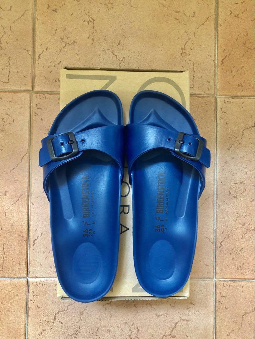 d049de36f61da3 BNIB Navy Blue Birkenstock Madrid EVA Sandals