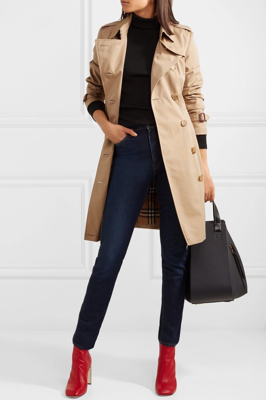 f6549d6368 BNWT Authentic BURBERRY Chelsea Honey Classic Trench, Women's ...