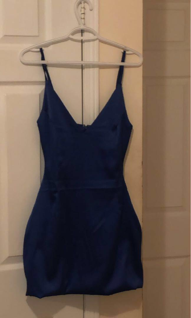 BNWT -Royal blue satin dress
