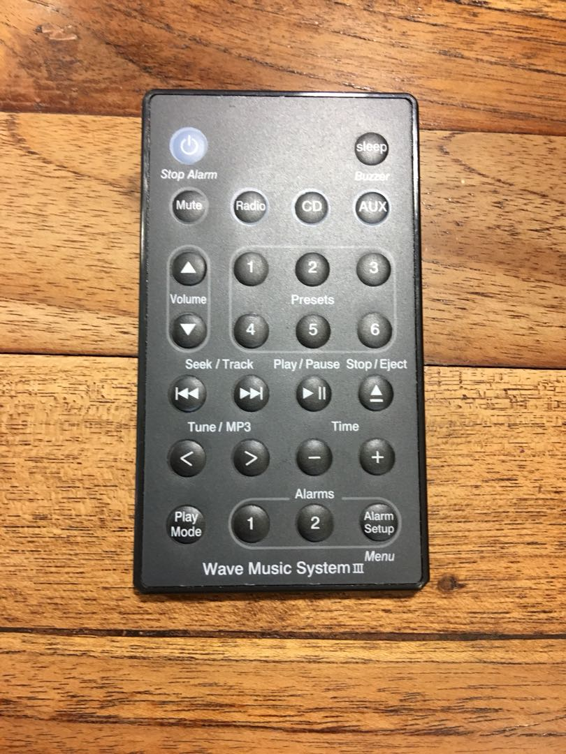Bose music system remote