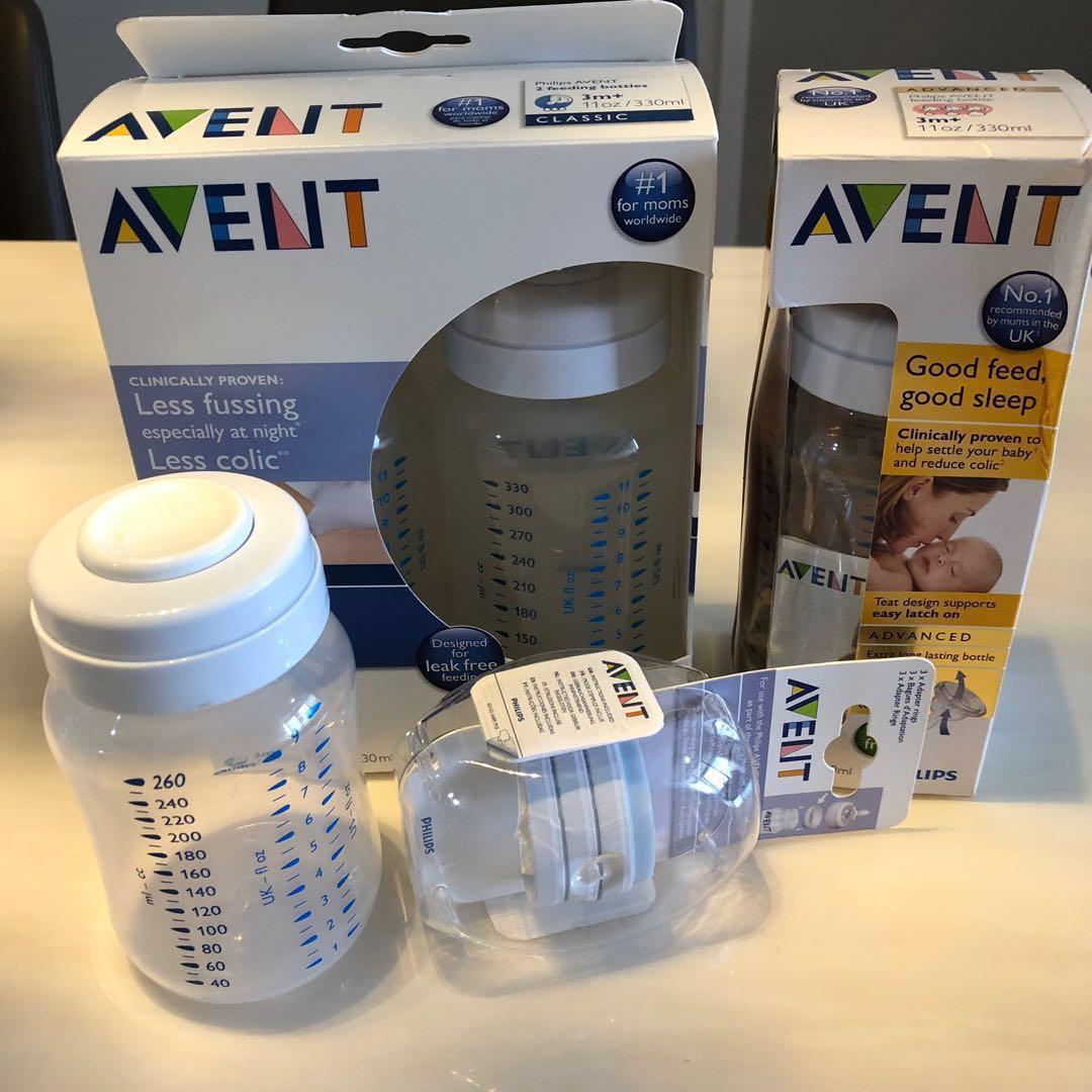 Brand New Philips Avent Bottles + FREE Preloved Sterilizer Worth $188