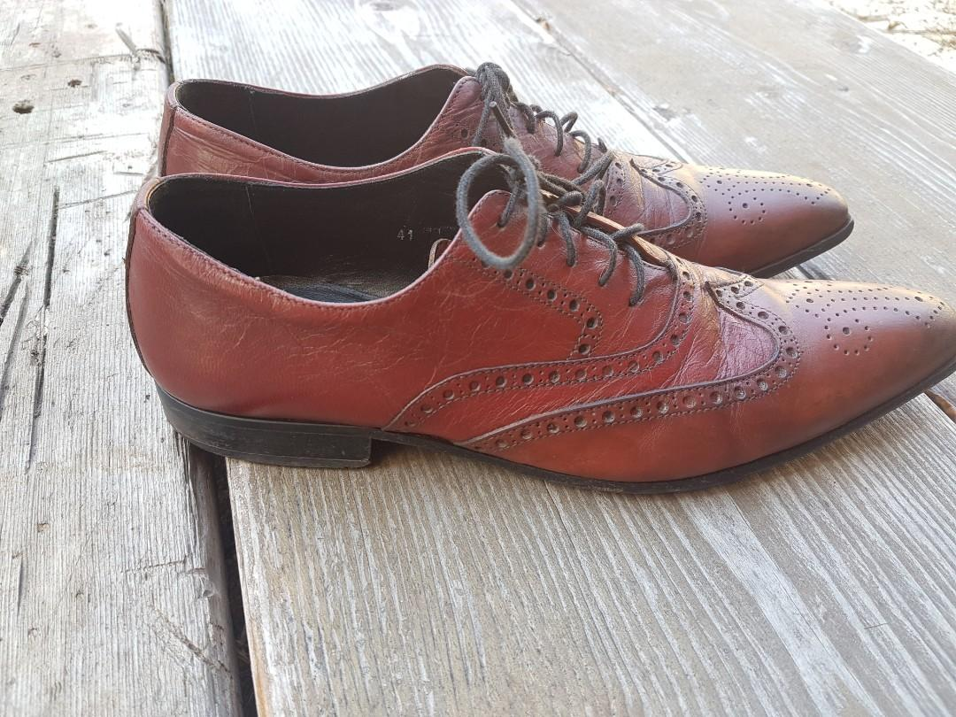 Dolce And Gabbana Brown Dress Shoes Made In Italy Vero Cuoio 41