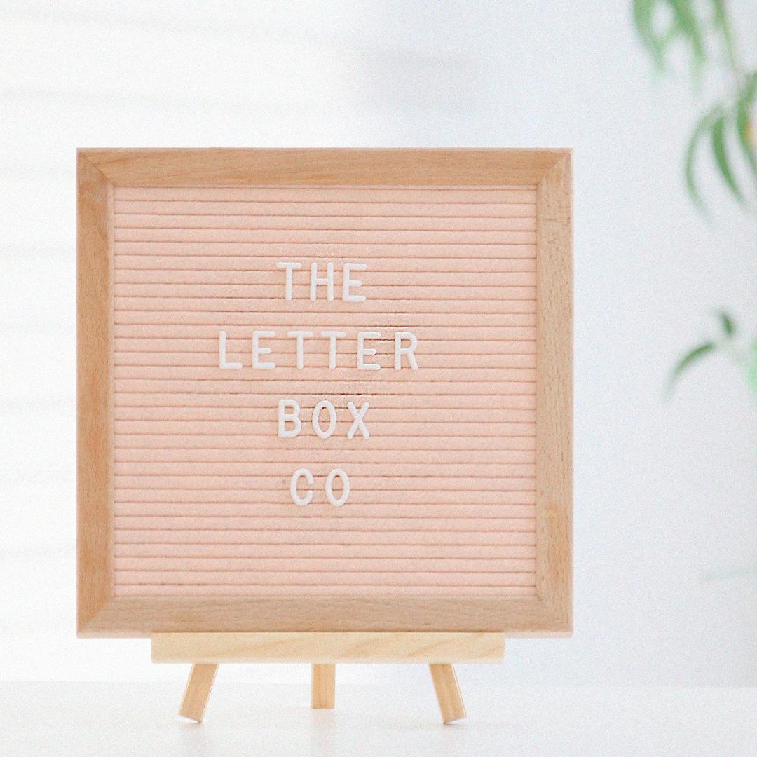 Ellie Felt Letter Board In Blush