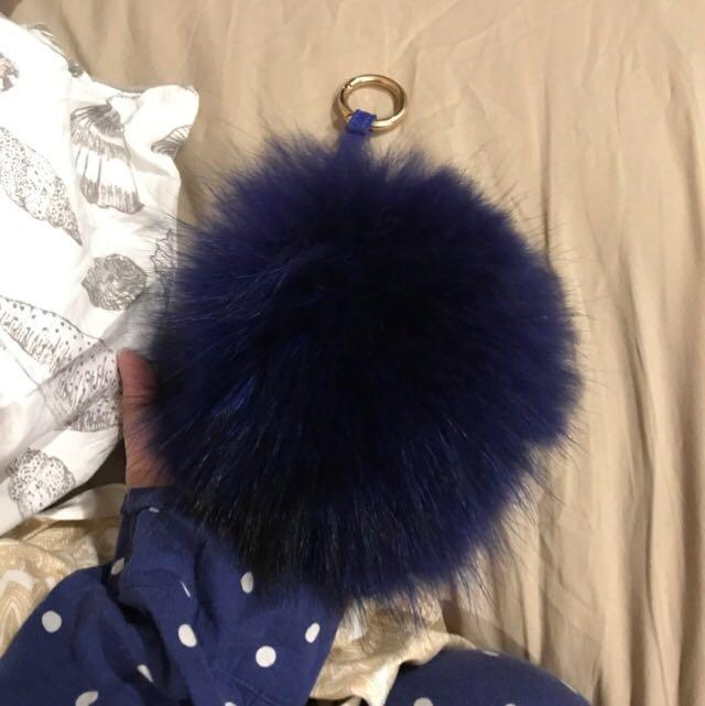 Fendi fur pom pom/key holder/ bag accessory