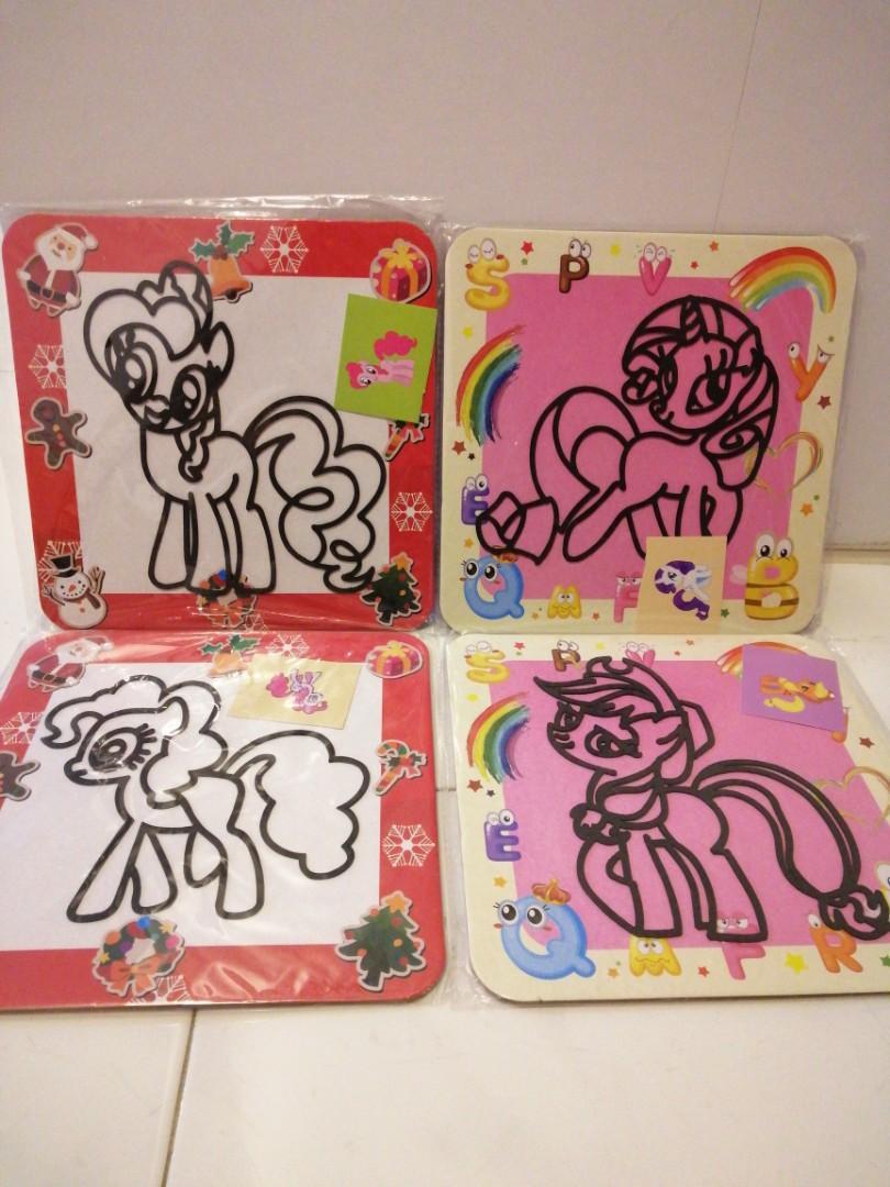 Kids Foam ball clay Art (DIY) My little Pony
