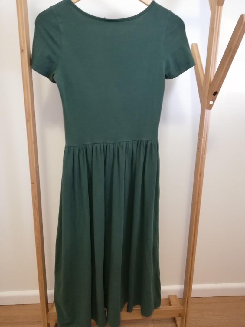 Green cotton Asos dress, sz 8 lovely casual dress for work or play