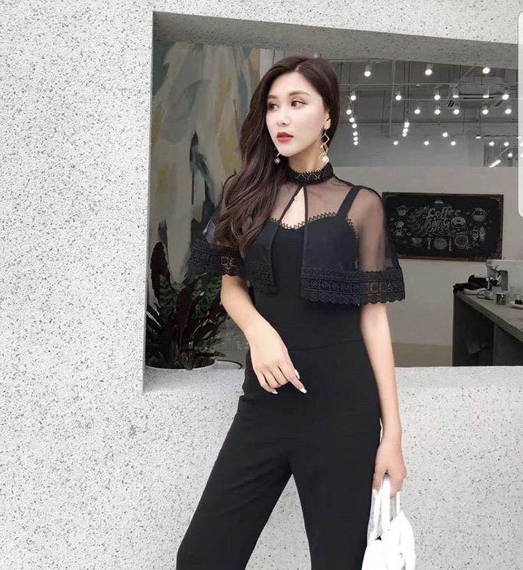 b7db0453063c Kate Jumpsuit in Black and White