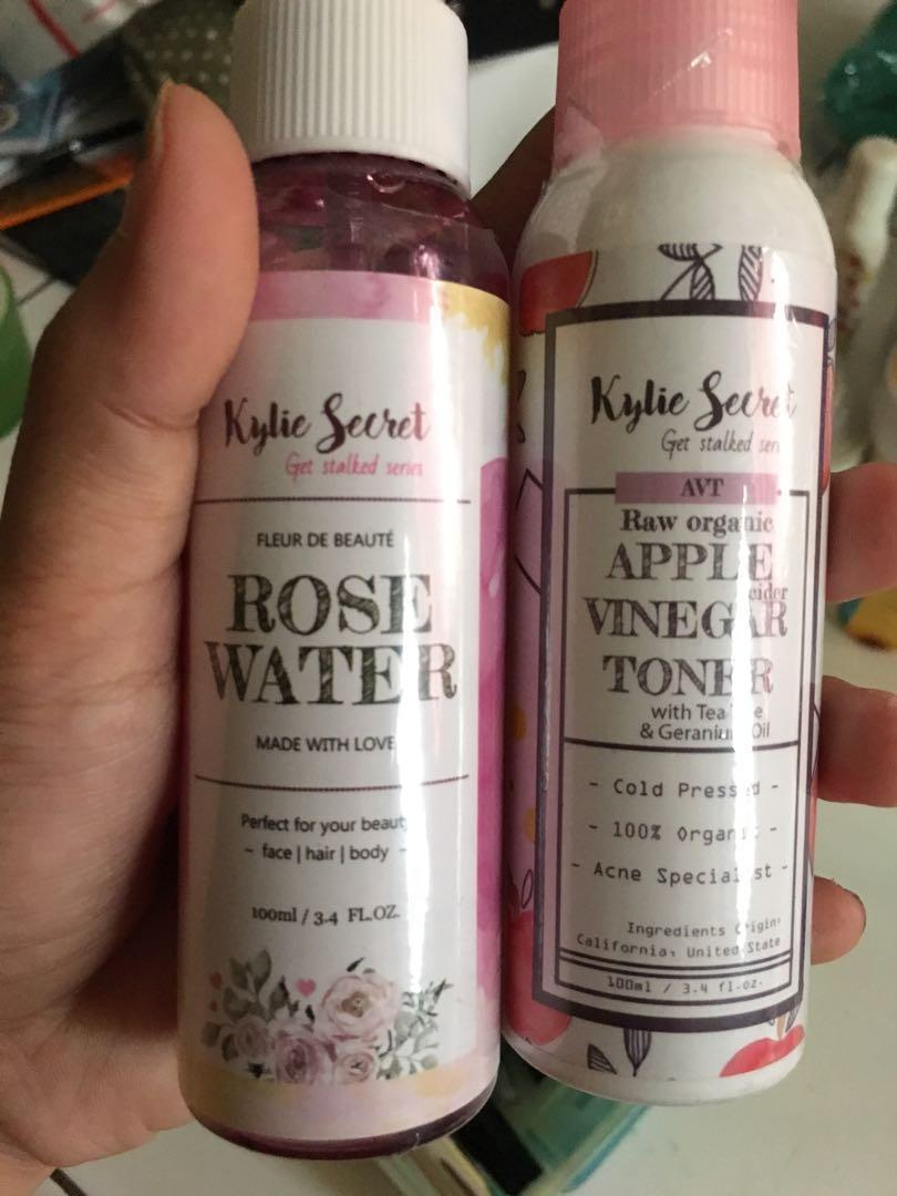 Kylie secret rose water dan apple vinegar