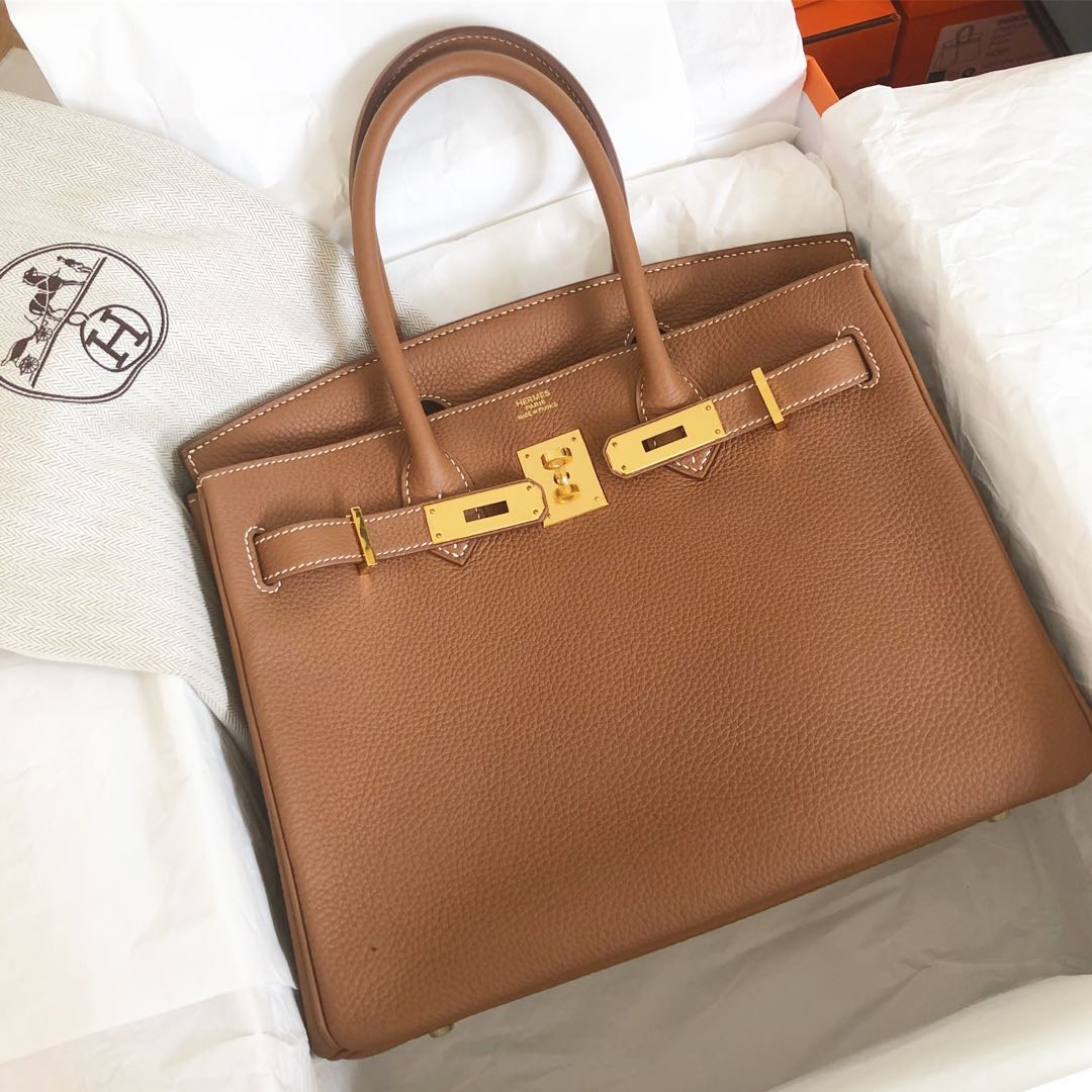 d314ab4b79 Like New Hermes Birkin 30 Gold Togo Ghw Q stamp