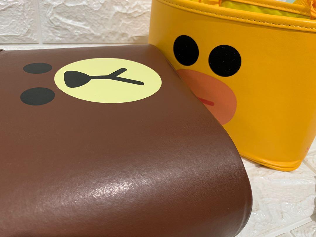 Line Friends Multipurpose Leather Storage Basket