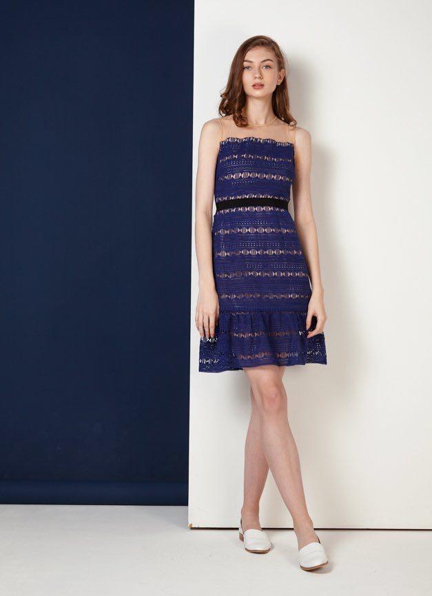 458e127b6 Lovengold Celine Crochet Mesh Dress, Women's Fashion, Clothes ...