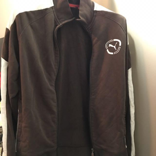 Men's puma zipper sweater jacket
