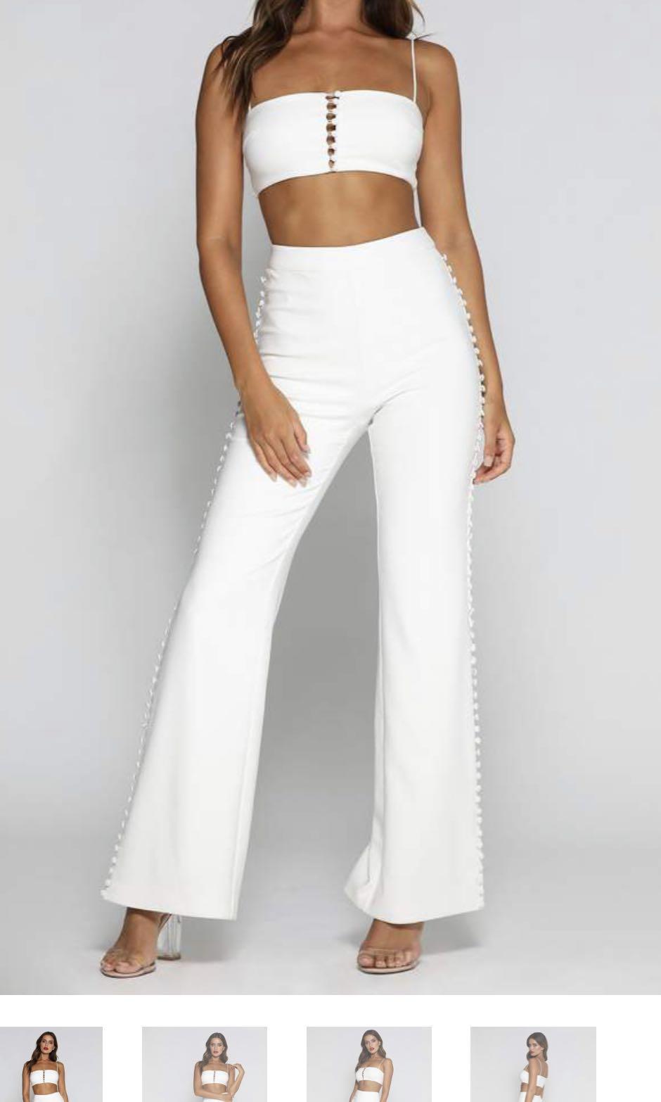 Meshki button pants