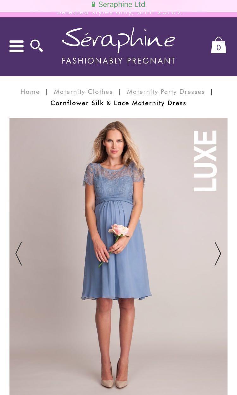 8a59a9b6b0515 NEW Seraphine Luxe Cornflower Silk & Lace Dress ( UK 6 ), Women's ...