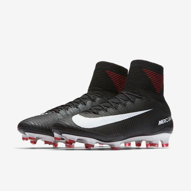 dbf097f7 Nike Mercurial Superfly V Soft Ground Football Boots - Black, Sports ...