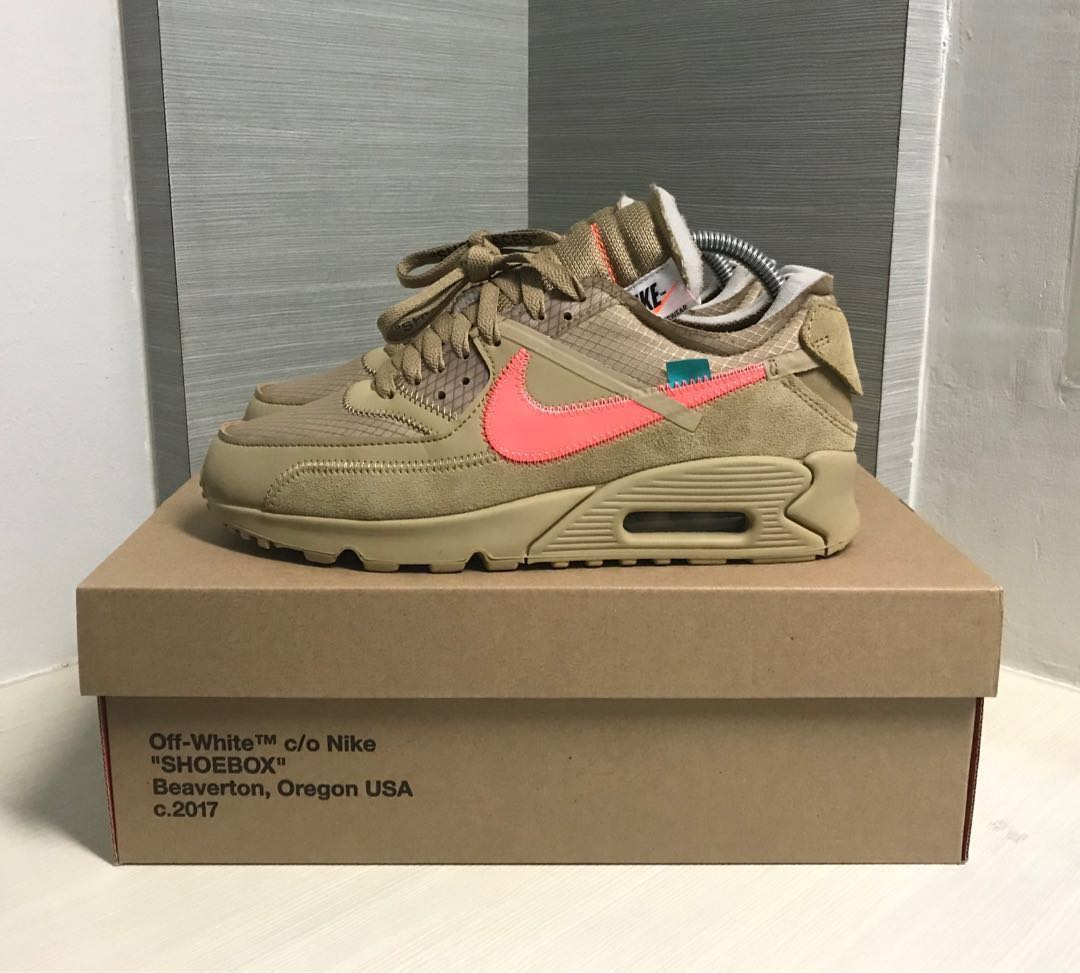 the latest 0076c ebaf3 Off-White x Nike Air Max 90 Desert Ore, Men s Fashion, Footwear ...