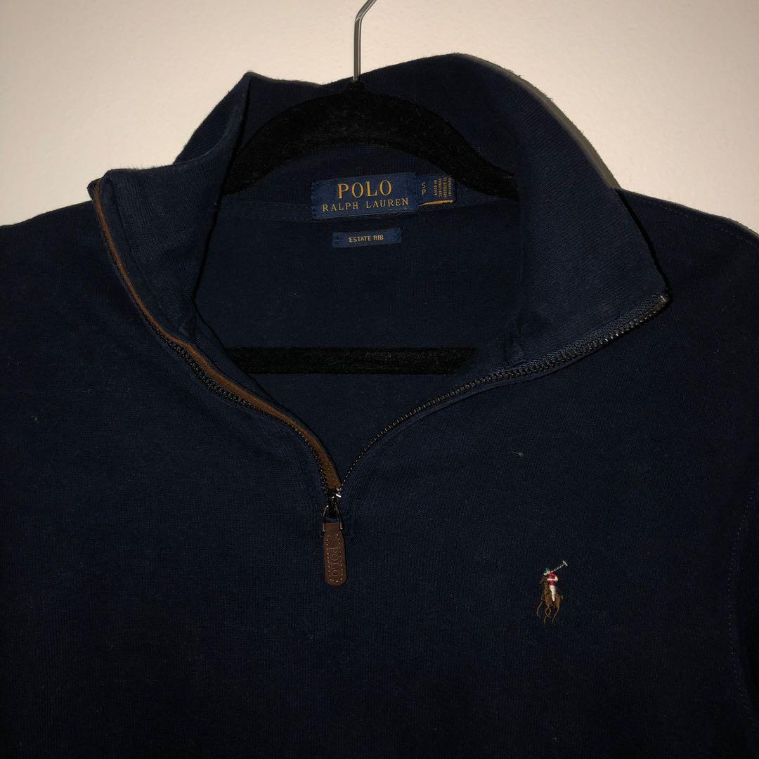 Polo Ralph Lauren Mens Estate Rib Half Zip Pullover