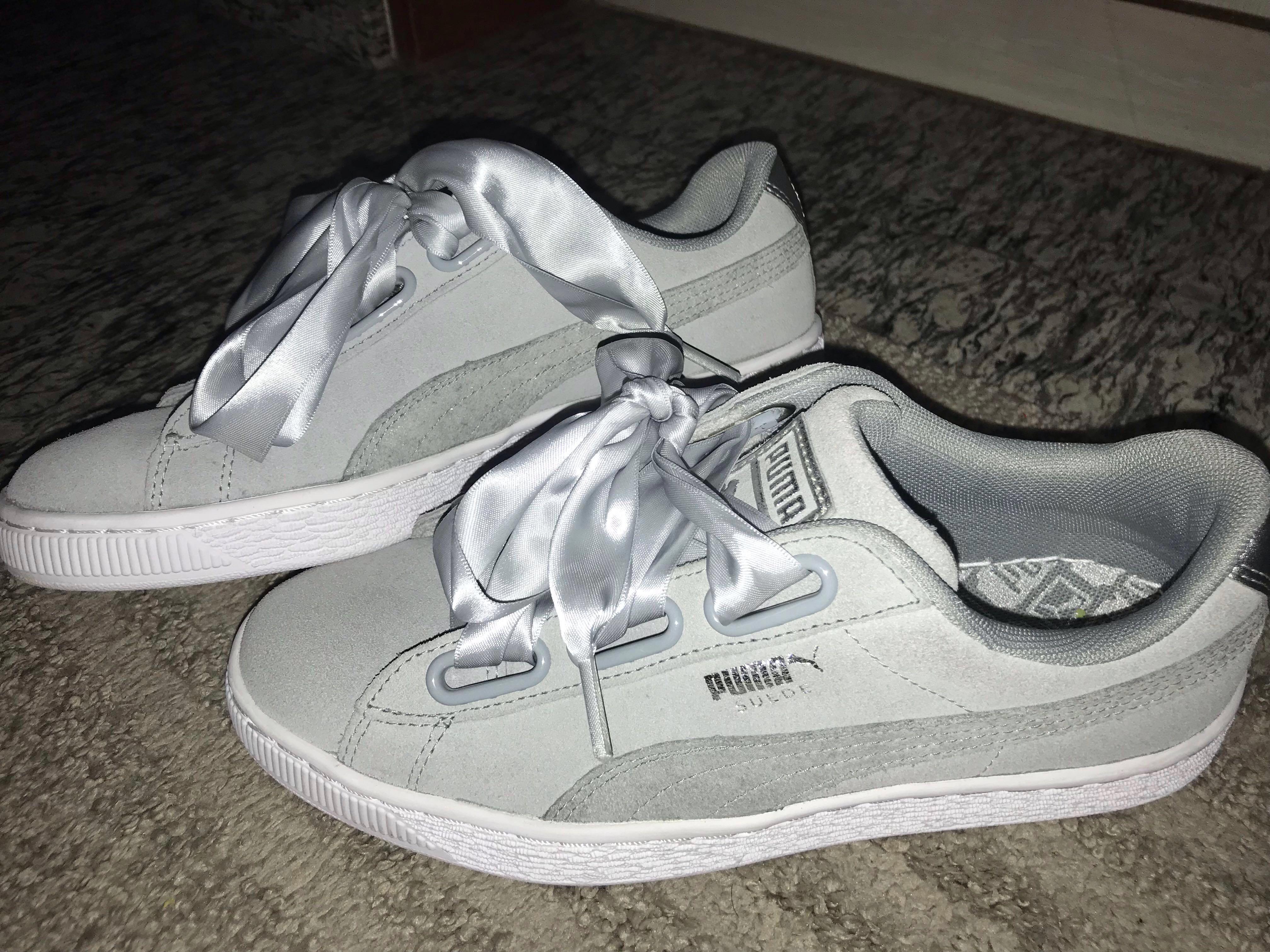 abbeb5851249a Puma Suede Heart Safari in Grey, Women's Fashion, Shoes, Sneakers on ...
