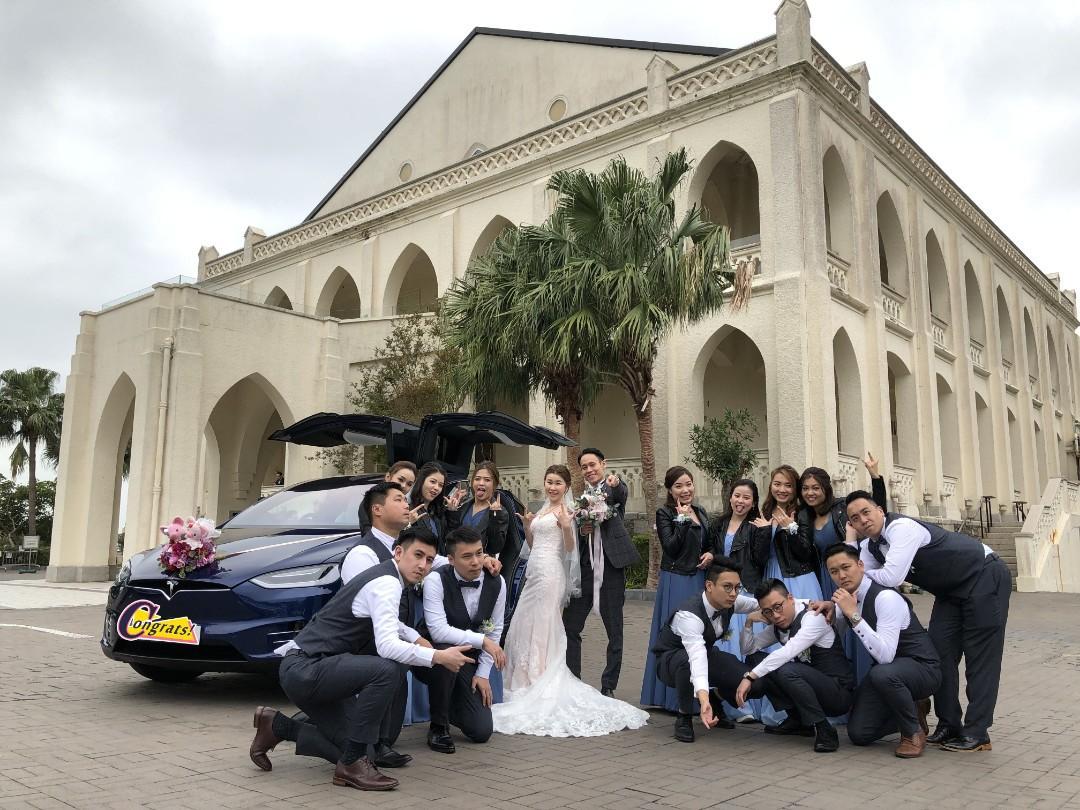 Tesla 結婚花車 租花車 WeddingCars.hk
