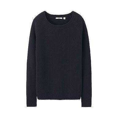 Uniqlo women's alpaca wool blend crew neck sweater jumper