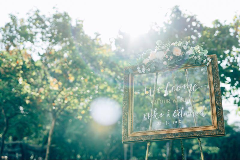 Wedding Welcome Sign Welcome Board for Rental 租借婚禮迎賓架包寫名